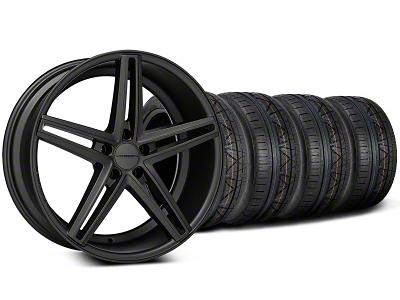 Staggered CV5 Matte Graphite Wheel & NITTO INVO Tire Kit - 20x9/10.5 (05-14 All)