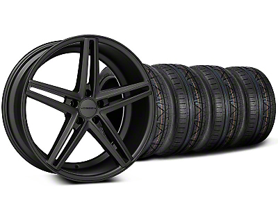 Staggered Matte Graphite CV5 Wheel & NITTO INVO Tire Kit - 20x9/10.5 (05-14 All)