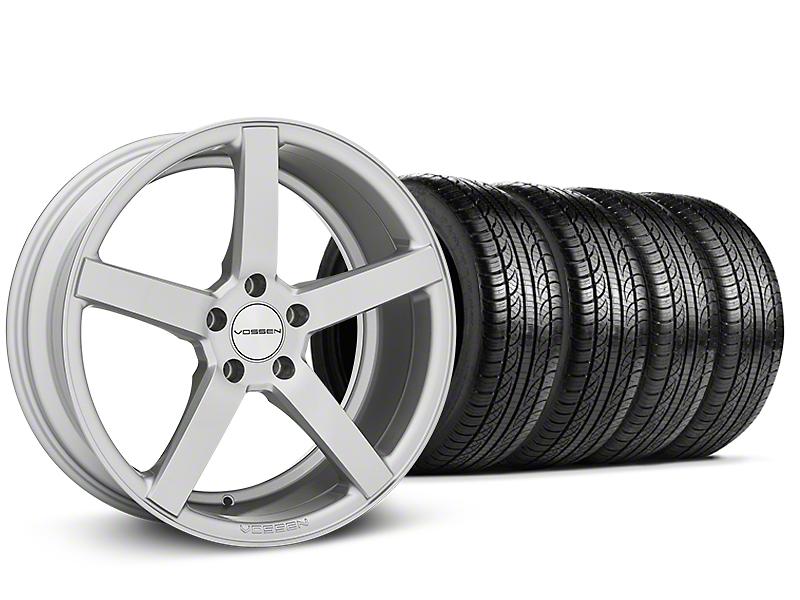 Staggered CV3-R Metallic Silver Wheel & Pirelli Tire Kit - 19x8.5/10 (05-14 All)