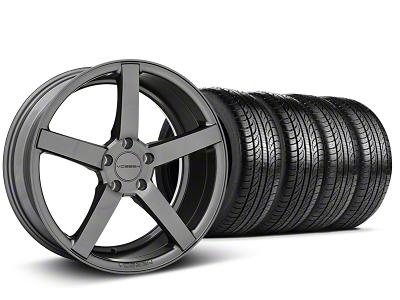 Staggered CV3-R Graphite Wheel & Pirelli Tire Kit - 19x8.5/10 (05-14 All)