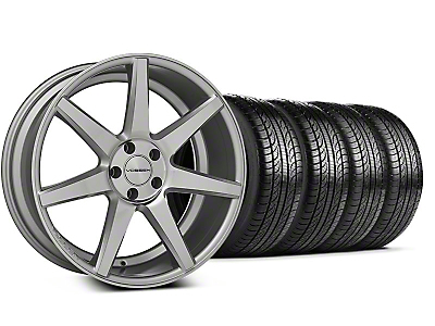 Staggered CV7 Silver Polished Wheel & Pirelli Tire Kit - 19x8.5/10 (05-14 All)