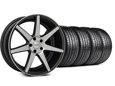 Staggered CV7 Matte Graphite Machined Wheel & Sumitomo Tire Kit - 19x8.5/10 (05-14 All)