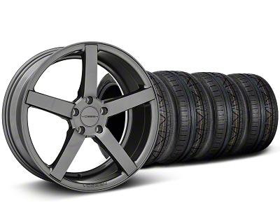 Staggered CV3 Matte Graphite Wheel & NITTO INVO Tire Kit - 19x8.5/10 (05-14 All)