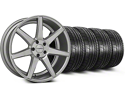 Staggered CV7 Silver Polished Wheel & Mickey Thompson Tire Kit - 19x8.5/10 (05-14 All)