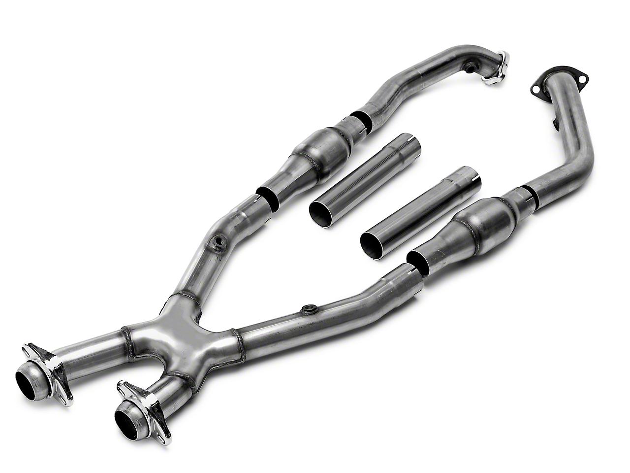 Bassani Catted X-pipe - Manual (99-04 GT, Mach 1; 99-01 Cobra)