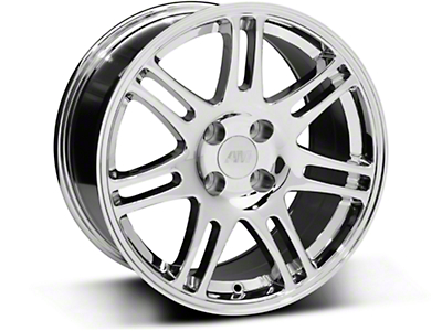 Chrome 10th Anniversary Cobra Style Wheel - 17x9 (87-93; Excludes 93 Cobra)