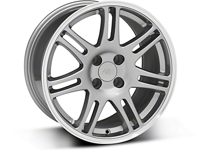10th Anniversary Style Cobra Anthracite Wheel - 17x9 (87-93; Excludes 93 Cobra)