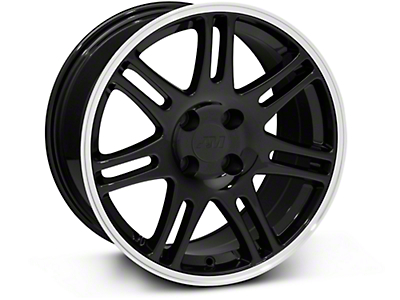 Black 10th Anniversary Cobra Style Wheel - 17x9 (87-93; Excludes 93 Cobra)