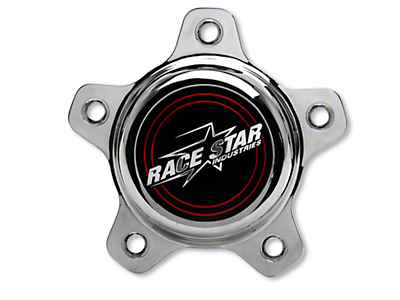 Race Star Chrome Center Cap - Tall
