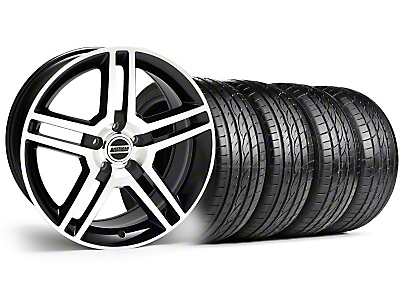 Black Machined GT500 Wheel & Sumitomo Tire Kit - 19x8.5 (10-12)