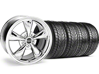 Bullitt Chrome Wheel & NITTO Tire Kit - 18x9 (05-14 GT, V6)