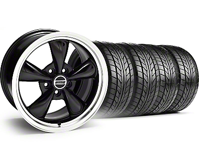 Bullitt Black Wheel & NITTO Tire Kit - 18x9 (05-14 GT, V6)