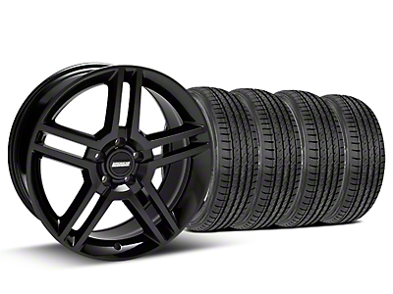 2010 GT500 Style Black Wheel & Sumitomo Tire Kit - 19x8.5 (05-14)