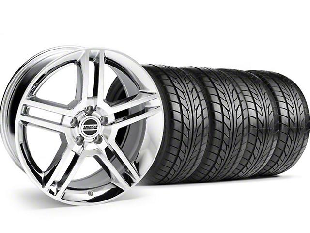2010 GT500 Style Chrome Wheel & NITTO Tire Kit - 18x9 (05-14)