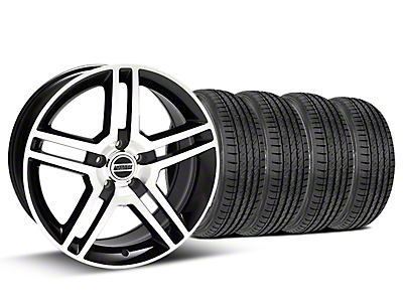 2010 GT500 Style Black Machined Wheel & Sumitomo Tire Kit - 19x8.5 (05-14)