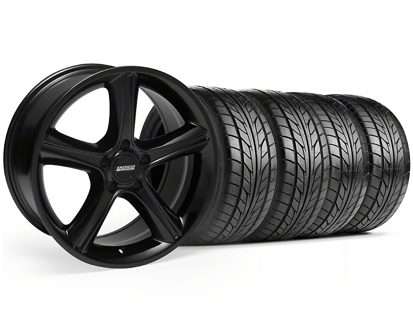 2010 GT Premium Style Black Wheel & NITTO Tire Kit - 18x9 (05-14 GT, V6)