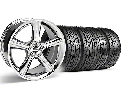 GT Premium Style Chrome Wheel & NITTO Tire Kit - 18x9 (05-14)