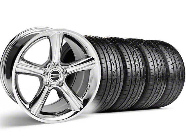 GT Premium Style Chrome Wheel & Sumitomo Tire Kit - 19x8.5 (05-14)