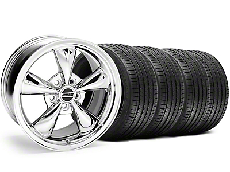 Bullitt Chrome Wheel & Sumitomo Tire Kit - 17x8 (94-04)