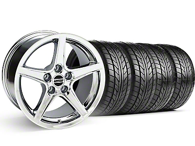 Saleen Style Chrome Wheel & NITTO Tire Kit - 18x9 (99-04)