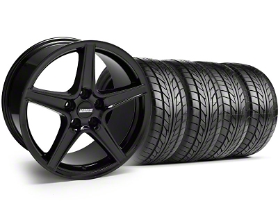 Saleen Style Black Wheel & NITTO Tire Kit - 18x9 (99-04 All)