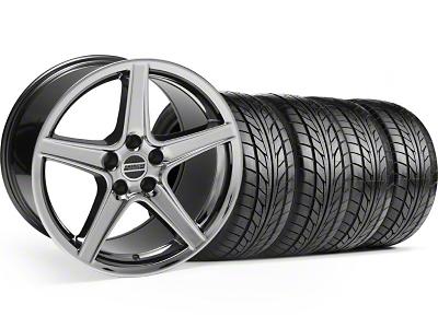 Saleen Style Black Chrome Wheel & NITTO Tire Kit - 18x9 (99-04)