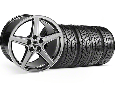 Black Chrome Saleen Style Wheel & NITTO Tire Kit - 18x9 (99-04)