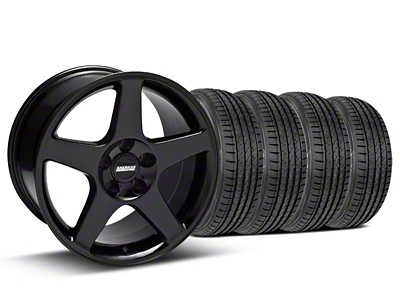 2003 Cobra Style Black Wheel & Sumitomo Tire Kit - 17x9 (99-04)