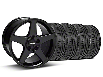 Black 2003 Cobra Wheel & Sumitomo Tire Kit - 17x9 (99-04)