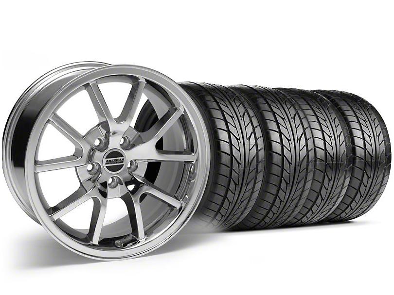 FR500 Style Chrome Wheel & NITTO Tire Kit - 18x9 (99-04)
