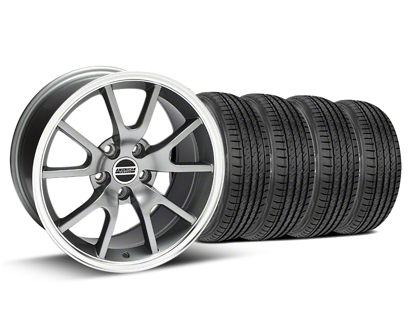 FR500 Style Anthracite Wheel & Sumitomo Tire Kit - 17x9 (99-04)