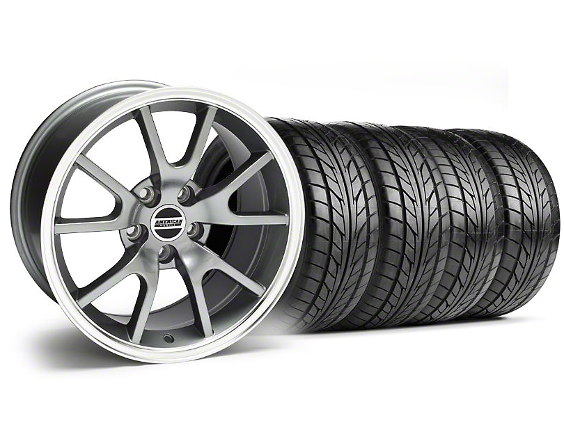 FR500 Style Anthracite Wheel & NITTO Tire Kit - 18x9 (99-04)
