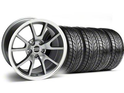 FR500 Style Anthracite Wheel & NITTO Tire Kit - 18x9 (99-04)