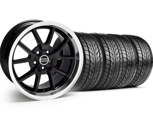 FR500 Style Black Wheel & NITTO Tire Kit - 18x9 (99-04)