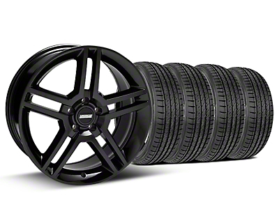 Staggered Black GT500 Wheel & Sumitomo Tire Kit - 19x8.5/10 (05-14)