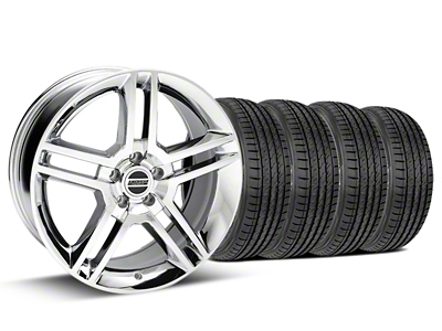 Staggered 2010 GT500 Style Chrome Wheel & Sumitomo Tire Kit - 19x8.5/10 (05-14)