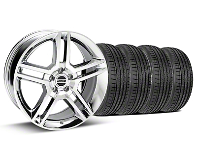 Staggered Chrome GT500 Wheel & Sumitomo Tire Kit - 19x8.5/10 (05-14)