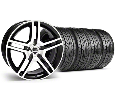Staggered 2010 GT500 Style Black Machined Wheel & NITTO Tire Kit - 18x9/10 (05-14)