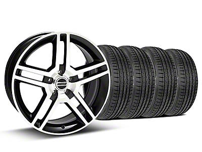 Staggered 2010 GT500 Style Black Machined Wheel & Sumitomo Tire Kit - 19x8.5/10 (05-14)