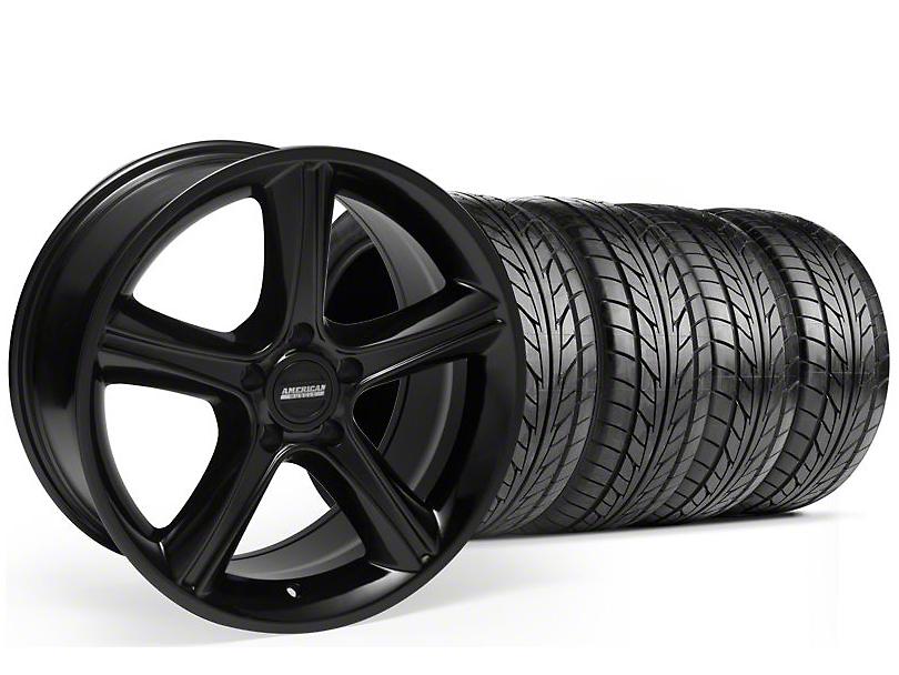 Staggered GT Premium Style Black Wheel & NITTO Tire Kit - 18x9/10 (05-14)