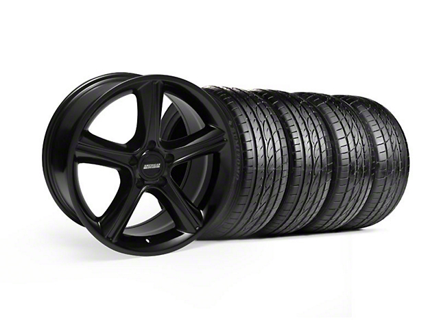 Staggered GT Premium Style Black Wheel & Sumitomo Tire Kit - 19x8.5/10 (05-14)