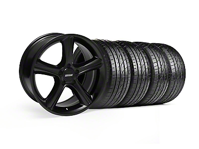 Staggered GT Premium Black Wheel & Sumitomo Tire Kit - 19x8.5/10 (05-14)