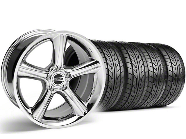 2010 Staggered GT Premium Style Chrome Wheel & NITTO Tire Kit - 18x9/10 (05-14)