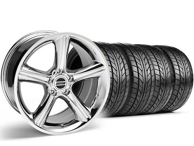 Staggered GT Premium Style Chrome Wheel & NITTO Tire Kit - 18x9/10 (05-14)