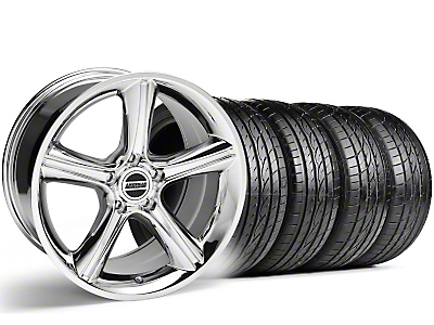 2010 Staggered GT Premium Style Chrome Wheel & Sumitomo Tire Kit - 19x8.5/10 (05-14 GT, V6)