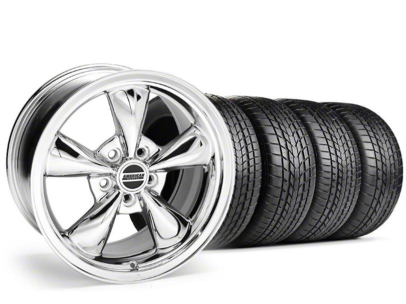 Staggered Bullitt Chrome Wheel & Sumitomo Tire Kit - 17x9/10.5 (99-04)