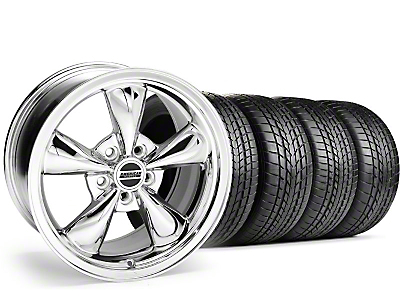Staggered Chrome Bullitt Wheel & Sumitomo Tire Kit - 17x9/10.5 (99-04)