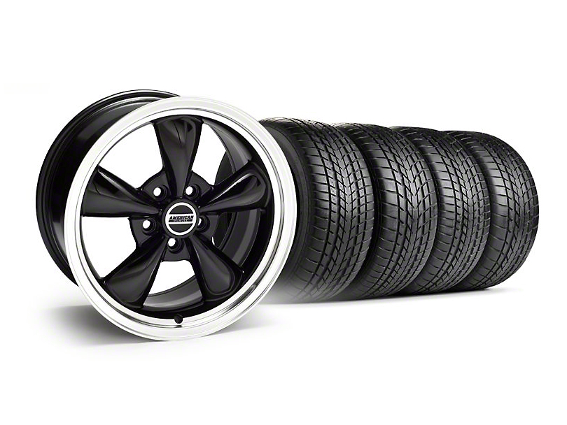 Staggered Bullitt Black Wheel & Sumitomo Tire Kit - 17x9/10.5 (99-04)
