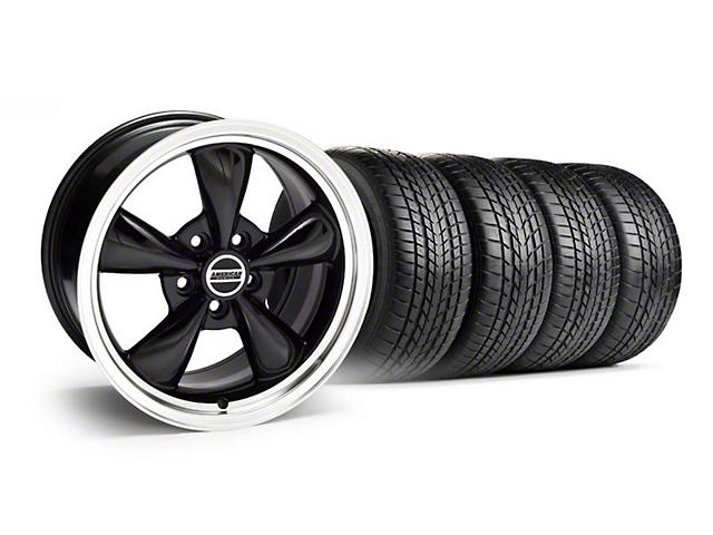 Staggered Bullitt Black Wheel & Sumitomo Tire Kit - 17x9/10.5 (99-04)