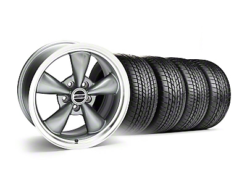 Staggered Bullitt Anthracite Wheel & Sumitomo Tire Kit - 17x9/10.5 (99-04)